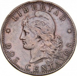 Moneta > 2centavos, 1882-1896 - Argentina  - reverse