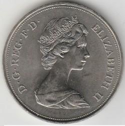 Münze > 25Pence, 1972 - Vereinigtes Königreich   (Zur königlichen Silberhochzeit) - obverse
