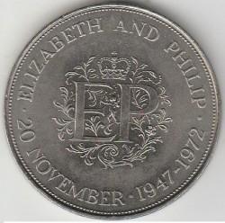 Münze > 25Pence, 1972 - Vereinigtes Königreich   (Zur königlichen Silberhochzeit) - reverse