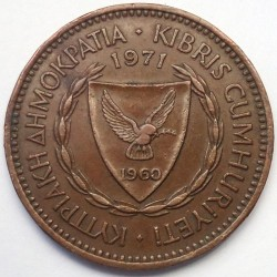 Moneta > 5mils, 1963-1980 - Cipro  - obverse