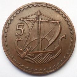 Moneta > 5mils, 1963-1980 - Cipro  - reverse
