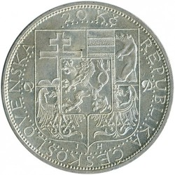 Moneda > 20korun, 1937 - Txecoslovàquia  (Mort del President Masaryk) - reverse