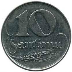 מטבע > 10סנטים, 1922 - לטביה  - reverse