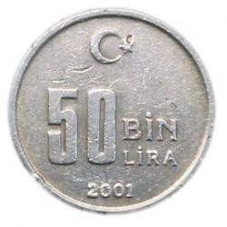 Кованица > 50.000лира, 2001-2004 - Турска  - reverse