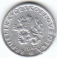 Münze > 20Heller, 1951-1952 - Tschechoslowakei  - obverse