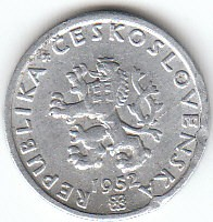 Münze > 20Heller, 1951-1952 - Tschechoslowakei  - reverse