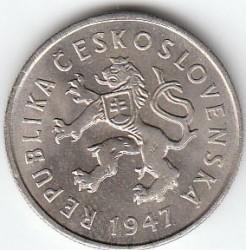 Münze > 2Kronen, 1947-1948 - Tschechoslowakei  - obverse