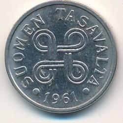 Münze > 5Mark, 1961 - Finnland  - obverse