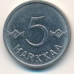 Münze > 5Mark, 1961 - Finnland  - reverse
