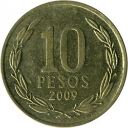 Moneta > 10pesos, 2009 - Cile  - obverse