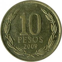 Moneta > 10pesos, 2009 - Cile  - reverse