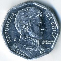 Moneta > 1peso, 1992-2015 - Cile  - obverse