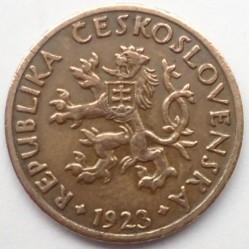 錢幣 > 5赫勒, 1923-1938 - 捷克斯洛伐克  - obverse