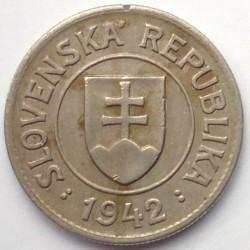 Minca > 1koruna, 1940-1945 - Slovensko  - obverse