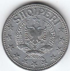 Pièce > 2lekë, 1947-1957 - Albanie  - obverse