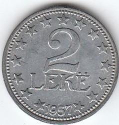 Pièce > 2lekë, 1947-1957 - Albanie  - reverse