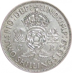 錢幣 > 2先令(弗羅林), 1937-1946 - 英國  - reverse
