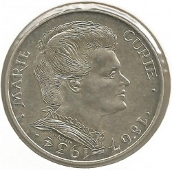 Coin > 100 francs, 1984 - France  (50th Anniversary - Death of Marie Curie) - obverse