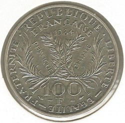 Coin > 100 francs, 1984 - France  (50th Anniversary - Death of Marie Curie) - reverse