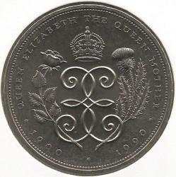 Moneta > 5funtów, 1990 - Wielka Brytania  (90 rocznica urodzin - Królowa Matka) - reverse