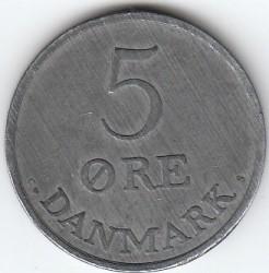 Moneda > 5öre, 1950-1964 - Dinamarca  - reverse