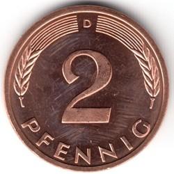 Münze > 2Pfennig, 1996 - Deutschland  - reverse