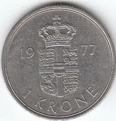 Moneta > 1korona, 1973-1989 - Dania  - reverse
