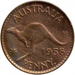 Moneda > 1penique, 1955-1964 - Australia  - reverse