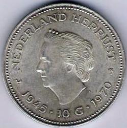 Minca > 10gulden, 1970 - Holandsko  (25th Anniversary - Liberation) - reverse