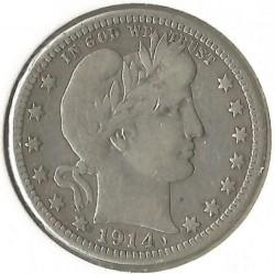 Minca > ¼dolára, 1892-1916 - USA  (Barber Quarter) - obverse