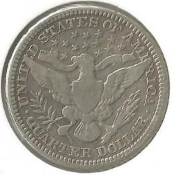 Minca > ¼dolára, 1892-1916 - USA  (Barber Quarter) - reverse