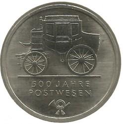 Moneda > 5marcos, 1990 - Alemania - RDA  (500º Aniversario - Servicio Postal) - reverse