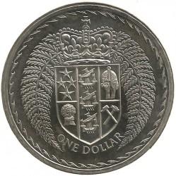 Монета > 1долар, 1967-1976 - Нова Зеландия  - obverse