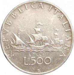Moneta > 500lirów, 1958-2001 - Włochy  (Silver) - reverse