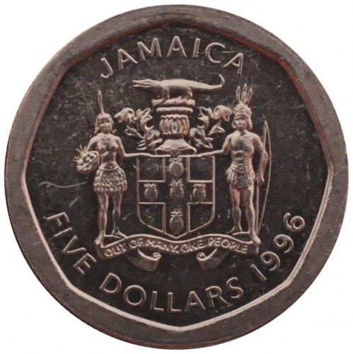Coin 5 Dollars 1994 2017 Jamaica Obverse