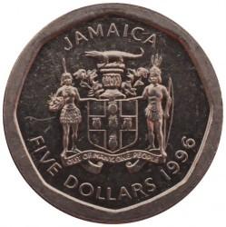 Coin > 5dollars, 1996 - Jamaica  - obverse