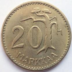 Münze > 20Mark, 1957 - Finnland  - reverse