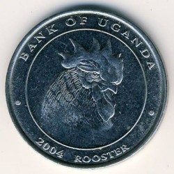 Moneda > 100chelines, 2004 - Uganda  (Chinese Zodiac - Rooster) - reverse