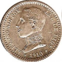 Moeda > 50cêntimos, 1910 - Espanha  - obverse