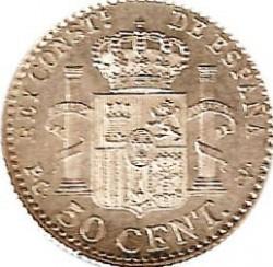 Moeda > 50cêntimos, 1910 - Espanha  - reverse