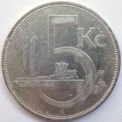Moneta > 5corone, 1928-1932 - Cecoslovacchia  - reverse
