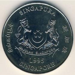 Moneta > 5dollari, 1995 - Singapore  (30° anniversario - Indipendenza) - obverse