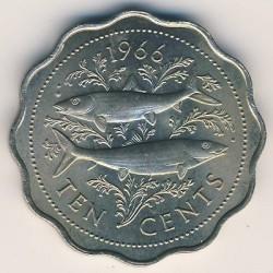 Монета > 10центів, 1966-1970 - Багамські острови  - reverse