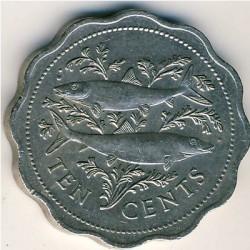 Moneta > 10centesimi, 1974-2005 - Bahamas  - reverse