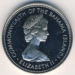 Монета > 25центів, 1971-1973 - Багамські острови  - obverse