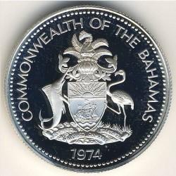 Кованица > 50центи, 1974-1980 - Бахами  - obverse