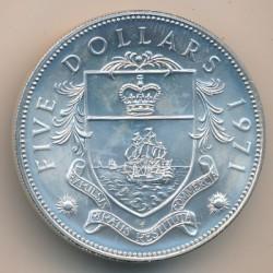 Монета > 5доларів, 1971 - Багамські острови  - reverse