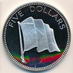 Монета > 5долларов, 1974-1980 - Багамы  - reverse
