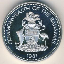 Монета > 5долларов, 1981 - Багамы  - obverse