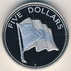 Монета > 5долларов, 1981 - Багамы  - reverse